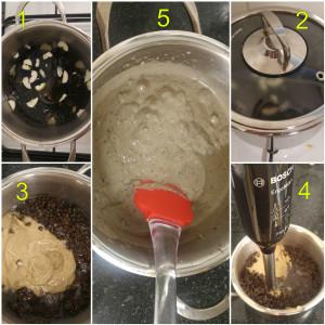 ממרח עדשים שחורות מתכון